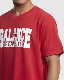 3 RVCA BALANCE BLOCK SHORT SLEEVE TEE Red R318046 RVCA