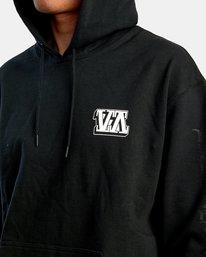 2 Defer Block Fleece Hoodie Black R318152 RVCA
