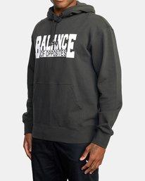 1 BALANCE BLOCK HOODIE Black R318153 RVCA