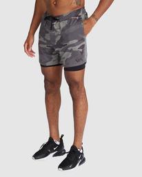 """0 VA Sport   Sport Vent Running Shorts 15"""" Camo R318320 RVCA"""