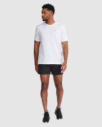 "6 Outsider Packable Elastic Shorts 17"" Black R318321 RVCA"