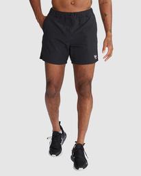 "1 Outsider Packable Elastic Shorts 17"" Black R318321 RVCA"