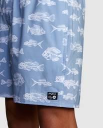 3 HORTON FISH ELASTIC SHORT Blue R318407 RVCA