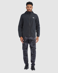 6 Outsider Packable Anorak Jacket Black R318432 RVCA