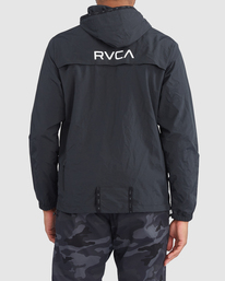 2 Outsider Packable Anorak Jacket Black R318432 RVCA