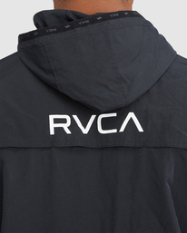 4 Outsider Packable Anorak Jacket Black R318432 RVCA