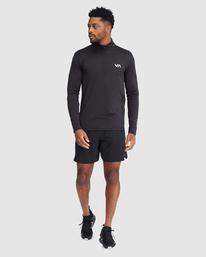 6 VA Sport | Sport Vent Long Sleeve Half-Zip Jacket Black R318433 RVCA