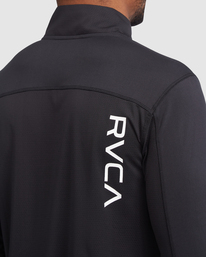 3 VA Sport | Sport Vent Long Sleeve Half-Zip Jacket Black R318433 RVCA