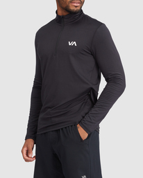1 VA Sport | Sport Vent Long Sleeve Half-Zip Jacket Black R318433 RVCA