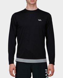 0 Runner Mesh Long Sleeve T-Shirt Black R371092 RVCA
