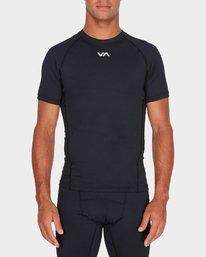 0 Va Compression Short Sleeve T-Shirt Black R381048 RVCA