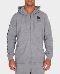 0 Va Guard Fleece Hoodie Grey R381154 RVCA