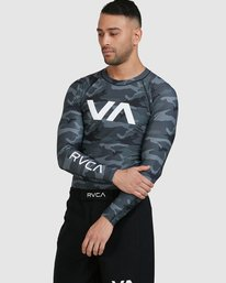 0 Sport Long Sleeve Rashguard Camo R381661 RVCA