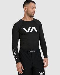 0 Sport Long Sleeve Rashguard Black R381661 RVCA