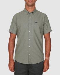 0 Thatll Do Stretch Short Sleeve Shirt Green R382185 RVCA