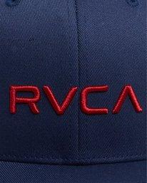 5 RVCA FLEX FIT CAP Blue R382568 RVCA