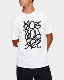 0 Fid Turmoil Short Sleeve White R391044 RVCA