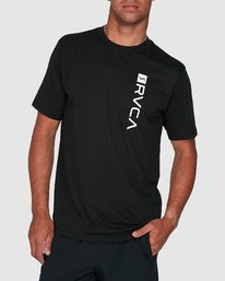 0 RVCA Box Short Sleeve Top Black R391046 RVCA