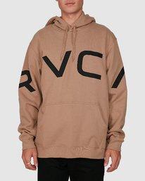 0 Fake Rvca Hoodie Beige R391155 RVCA
