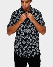 0 Peace Poppy Short Sleeve Shirt Black R391186 RVCA