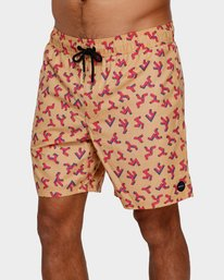 0 Out There Elastic Shorts Orange R391403 RVCA