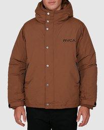 0 Rvca Puffa Jacket Brown R391433 RVCA