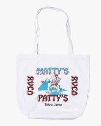 0 Matty's Patty's Tokyo Tote Bag White R391471 RVCA