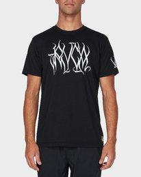 0 Big Defer Short Sleeve T-Shirt Black R393057 RVCA