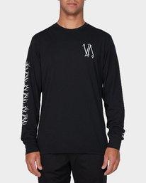 0 Defer Sphere Long Sleeve T-Shirt Black R393091 RVCA