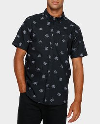 0 Thatll Do Print Short Sleeve Shirt Black R393188 RVCA