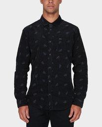 0 Paradis Cord Long Sleeve Shirt Black R393203 RVCA