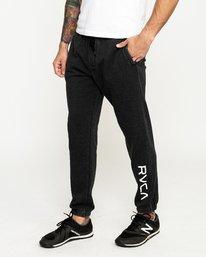 0 Cage Sweatpantshort Sleeve Pants Black R393276 RVCA
