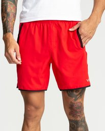0 Yogger Stretch Shorts Red R393313 RVCA