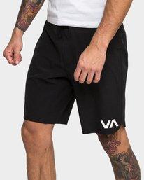 "0 Train Shorts 19"" W Liner Black R393318 RVCA"