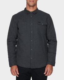 0 Victory Long Sleeve Shirt Black R393441 RVCA