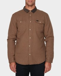 0 Victory Long Sleeve Shirt Beige R393441 RVCA