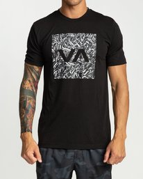 0 Defer All The Way Short Sleeve Black R394044 RVCA