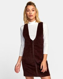 Kevin Spanky North - Corduroy Jumper Dress for Women  R3DRRARVW9