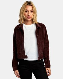 Out Out - Corduroy Cropped Jacket for Women  R3JKRBRVW9