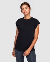 0 Graphic Muscle Tee Black R405704 RVCA