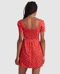 3 FENCED DRESS Orange R405756 RVCA