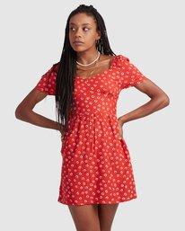 2 FENCED DRESS Orange R405756 RVCA
