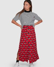 0 REALE MIDI SKIRT Red R405833 RVCA
