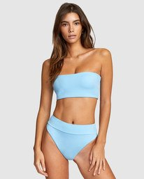 0 Solid Bandeau Bikini Top Blue R406857 RVCA