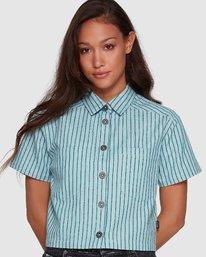 0 Jefferson Short Sleeve Shirt Green R407181 RVCA