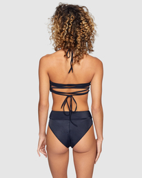 0 Solid High Rise Bikini Bottom Black R408822 RVCA