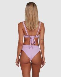 0 Solid High Rise Bikini Bottom Purple R408822 RVCA