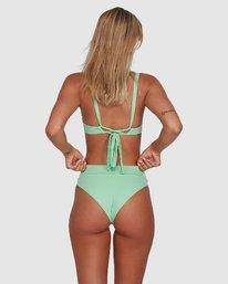 0 Solid High Rise Bikini Bottom Green R408822 RVCA