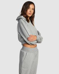 1 Rise Up Hoodie Grey R415151 RVCA