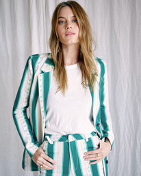 1 Camille Rowe | Camille Jacket Blue R415432 RVCA